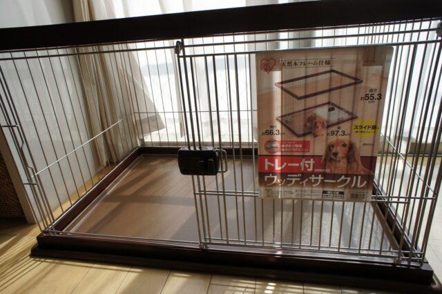 【小型犬用のケージ】アイリスオーヤマ ウッディーサークル(DWS-960E)