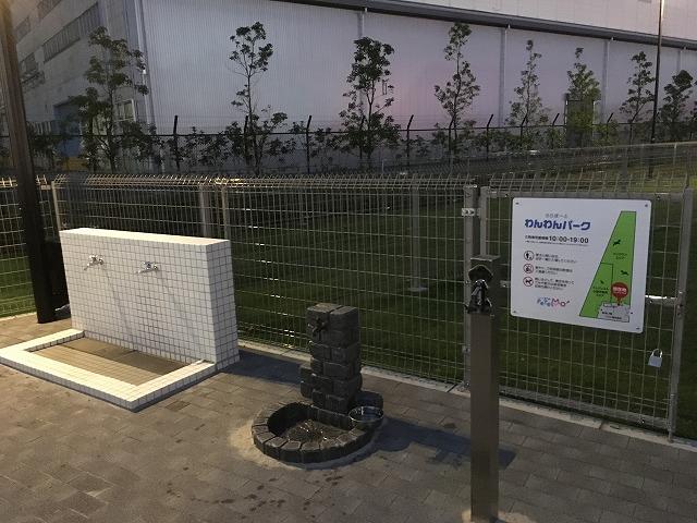 ららぽーと湘南平塚の無料ドッグラン利用方法、犬同伴移動エリアは北駐車場が便利!