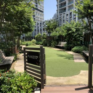 横浜ベイクォーター6階屋上ベイガーデンペットエリア利用方法